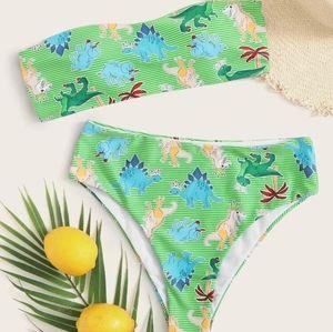 Dinasour print bikini set